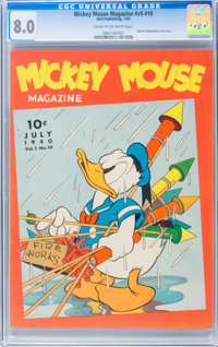 Mickey Mouse Magazine V5#10 (K. K. Publications, Inc., 1940) CGC VF 8.0 Cream to off-white pages