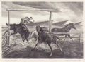 Western:20th Century, LAWRENCE LOUIS BARRETT (American, 1897-1973). Horse Wrangler. Graphite on paper. 9-1/2 x 12-3/4 inches (24.1 x 32.4 cm) ...