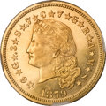Proof Four Dollar Gold Pieces, 1879 $4 Flowing Hair, Judd-1635, Pollock-1833, R.3, PR65 Cameo NGC....