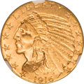 Indian Half Eagles, 1916-S $5 MS65 NGC. CAC....