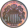 Patterns, 1866 5C Shield Five Cents, Judd-490, Pollock-578, Low R.7, PR65Brown PCGS. CAC....