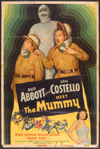 "Abbott and Costello Meet the Mummy (Universal International, 1955). Poster (40"" X 60""). Comedy"