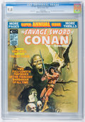 Magazines:Superhero, Savage Sword of Conan Annual #1 (Marvel, 1975) CGC NM/MT 9.8 White pages....