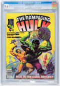 Magazines:Superhero, The Rampaging Hulk #6 (Marvel, 1977) CGC NM+ 9.6 White pages....