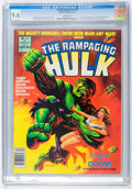 Magazines:Superhero, The Rampaging Hulk #8 (Marvel, 1978) CGC NM+ 9.6 White pages....