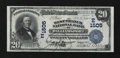 National Bank Notes:Pennsylvania, Williamsport, PA - $20 1902 Plain Back Fr. 650 The West Branch NBCh. # (E)1505. ...