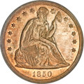 Seated Dollars, 1850 $1 MS61 PCGS....