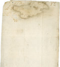 """Autographs:U.S. Presidents, George Washington Autograph Docket on Christmas Beer Receipt. One page, 6.25"""" x 2.75"""", December 22, 1772. The beer was order..."""