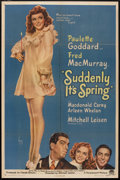 """Movie Posters:Comedy, Suddenly It's Spring (Paramount, 1946). One Sheet (27"""" X 41"""") Style A. Comedy.. ..."""