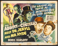 "Abbott and Costello Meet Dr. Jekyll and Mr. Hyde (Universal International, 1953). Half Sheet (22"" X 28"") Style..."