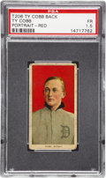 Baseball Cards:Singles (Pre-1930), 1909-11 T206 Ty Cobb Portrait Red Background with Ty Cobb Back PSAFair 1.5....