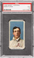 Baseball Cards:Singles (Pre-1930), 1909-11 T206 Sweet Caporal Eddie Plank PSA VG 3....