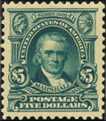 Stamps, $5 Dark Green (313),... (Total: 1 Slab)