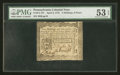 Colonial Notes:Pennsylvania, Pennsylvania April 3, 1772 2s/6d PMG About Uncirculated 53 EPQ....