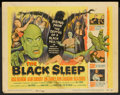 """Movie Posters:Horror, The Black Sleep (United Artists, 1956). Lobby Card Set of 8 (11"""" X 14""""). Horror.. ... (Total: 8 Items)"""