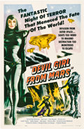 "Movie Posters:Science Fiction, Devil Girl from Mars (Spartan, 1955). One Sheet (27"" X 41"").. ..."