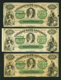 Obsoletes By State:Louisiana, Shreveport, LA- Citizens' Bank of Louisiana $20 Three Examples. ... (Total: 3 notes)