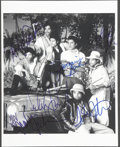 Music Memorabilia:Autographs and Signed Items, The Jacksons Signed Photo....