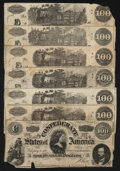 Confederate Notes:1862 Issues, Confederate C-notes Good or Better.. ... (Total: 7 notes)