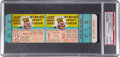 Baseball Collectibles:Tickets, 1958 World Series Game Two Full Ticket, PSA Gem MT 10....