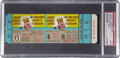 Baseball Collectibles:Tickets, 1958 World Series Game Six Full Ticket, PSA Mint 9....