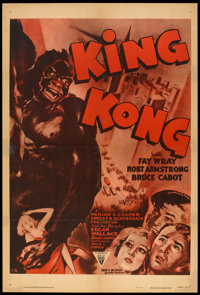 "King Kong (RKO, R-1952). One Sheet (27"" X 41""). Horror"