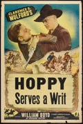 """Movie Posters:Western, Hoppy Serves a Writ (Masterpiece Productions, R-1940s). Stock One Sheet (27"""" X 41"""") Style B. Western.. ..."""