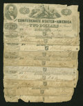 Confederate Notes:1862 Issues, T54 $2 1862 Nine Examples.. ... (Total: 9 notes)