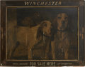 Advertising:Signs, Winchester Print with Original Winchester Advertising Frame, Circa 1925....