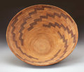 American Indian Art:Baskets, A LARGE YOKUTS COILED BOWL. c. 1900...