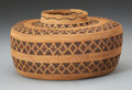 American Indian Art:Baskets, A YOKUTS POLYCHROME COILED BOTTLENECK JAR. c. 1900...