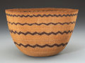 American Indian Art:Baskets, A POMO TWINED STORAGE BASKET. c. 1900...
