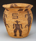 American Indian Art:Baskets, A PAPAGO PICTORIAL COILED STORAGE JAR. c. 1930...
