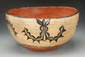 American Indian Art:Pottery, A COCHITI POLYCHROME DOUGH BOWL. c. 1930. ...