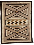 American Indian Art:Weavings, A NAVAJO REGIONAL RUG. c. 1920. ...