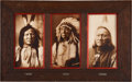 American Indian Art:Photographs, RAIN-IN-THE-FACE, RED CLOUD, AND RUNNING ANTELOPE. c. 1885 -1897...