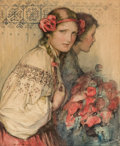 Mainstream Illustration, WLADISLAW THEODORE BENDA (American, 1873-1948). Poppy Girl.Watercolor and pencil on board. 17 x 14 in.. Signed lower le...