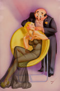 Pin-up and Glamour Art, GEORGE PETTY (American, 1894-1975). Oh Mr. Feinberg, You andYour Pretty Phrases, Esquire cartoon illustration.Mixe...