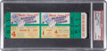 Baseball Collectibles:Tickets, 1957 World Series Game Five Full Ticket, PSA Mint 9....