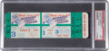 Baseball Collectibles:Tickets, 1957 World Series Game Three Full Ticket, PSA Mint 9....