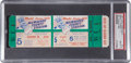 Baseball Collectibles:Tickets, 1957 World Series Game Five Full Ticket, PSA Gem Mint 10....