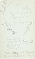 Golf Collectibles:Autographs, 1912 Early Golf Legends Signed Page with Harry Vardon....