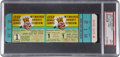 Baseball Collectibles:Tickets, 1958 World Series Game One Full Ticket, PSA Mint 9....