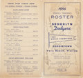Autographs:Others, 1956 Brooklyn Dodgers Team Signed Program....