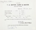Autographs:Others, 1971 Willie Foster Signed Tax Form....