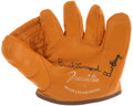 Autographs:Others, Buck Leonard Signed Glove. ...