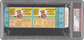 Baseball Collectibles:Tickets, 1958 World Series Game 7 Full Ticket PSA NM-MT 8....
