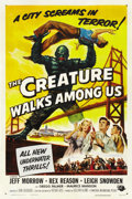 "Movie Posters:Science Fiction, The Creature Walks Among Us (Universal, 1956). One Sheet (27"" X41""). ..."