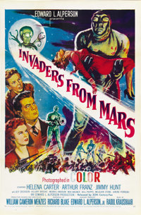 "Invaders From Mars (20th Century Fox, R-1955). One Sheet (27"" X 41"")"