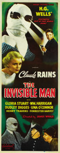 "Movie Posters:Horror, The Invisible Man (Realart, R-1951). Insert (14"" X 36"")...."